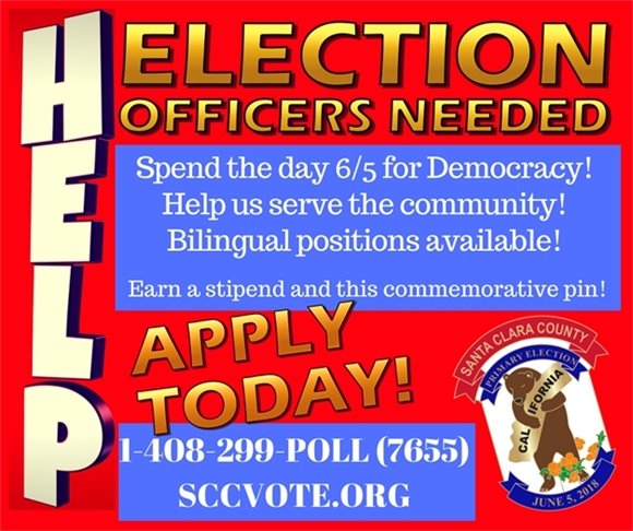 Election Officers Needed